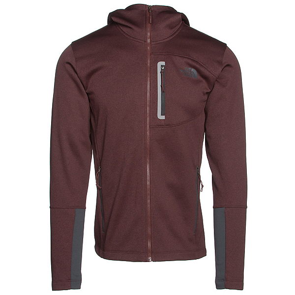 The North Face Canyonlands Full Zip Hoodie, Sequoia Red Heather-Asphalt Gr, 600