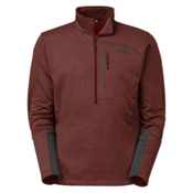 The North Face Canyonlands 1/2 Zip Mens Mid Layer, Sequoia Red Heather, medium