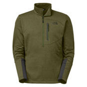 The North Face Canyonlands 1/2 Zip Mens Mid Layer, Scallion Green Heather, medium