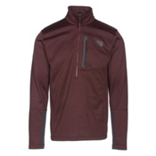 The North Face Canyonlands Half Zip Mens Mid Layer, Sequoia Red Heather-Asphalt Gr, medium