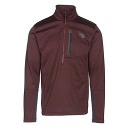 The North Face Canyonlands Half Zip Mens Mid Layer, Sequoia Red Heather-Asphalt Gr, 256
