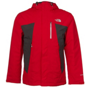The North Face Plasma ThermoBall Mens Insulated Ski Jacket, TNF Red-Asphalt Grey, medium