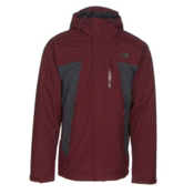 The North Face Plasma ThermoBall Mens Insulated Ski Jacket, Sequoia Red-Asphalt Grey, medium