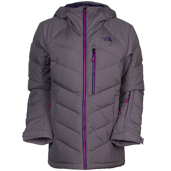 The North Face Point It Down Hybrid Womens Insulated Ski Jacket, Coastal Grey, 600