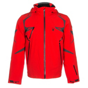 Spyder Pinnacle Mens Insulated Ski Jacket (Previous Season), Volcano-Polar-Black, medium