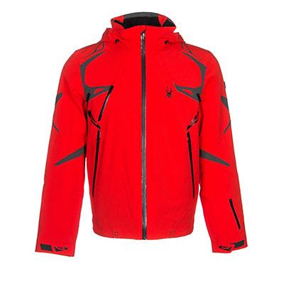Spyder Pinnacle Mens Insulated Ski Jacket (Previous Season), Black-Cirrus-Volcano, viewer