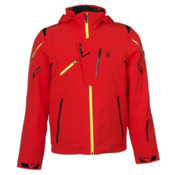 Spyder Monterosa Mens Insulated Ski Jacket (Previous Season), Volcano-Black-Bryte Yellow, medium