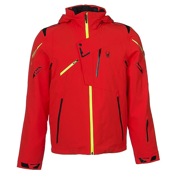 Spyder Monterosa Mens Insulated Ski Jacket (Previous Season), Volcano-Black-Bryte Yellow, 600