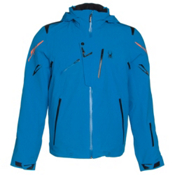 Spyder Monterosa Mens Insulated Ski Jacket, Electric Blue-Black-Bryte Oran, medium