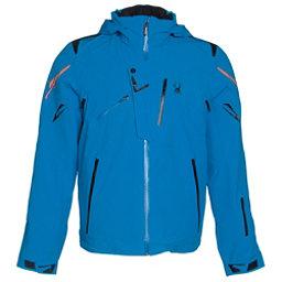 Spyder Monterosa Mens Insulated Ski Jacket (Previous Season), Electric Blue-Black-Bryte Oran, 256