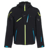 Spyder Monterosa Mens Insulated Ski Jacket (Previous Season), Black-Electric Blue-Theory, medium