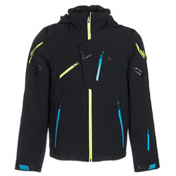 Spyder Monterosa Mens Insulated Ski Jacket (Previous Season), Black-Electric Blue-Theory, 256