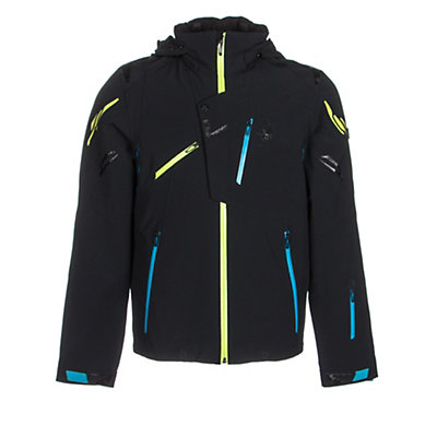 Spyder Monterosa Mens Insulated Ski Jacket (Previous Season), Volcano-Black-Bryte Yellow, viewer