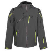 Spyder Monterosa Mens Insulated Ski Jacket, Polar-Theory Green-Bryte Yello, medium