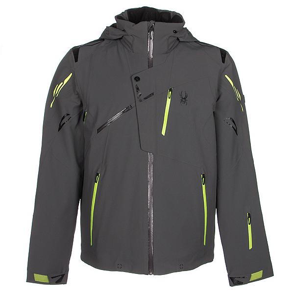 Spyder Monterosa Mens Insulated Ski Jacket (Previous Season), Polar-Theory Green-Bryte Yello, 600