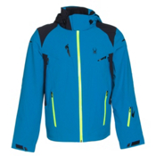 Spyder Bromont Mens Insulated Ski Jacket, Electric Blue-Black-Bryte Yell, medium