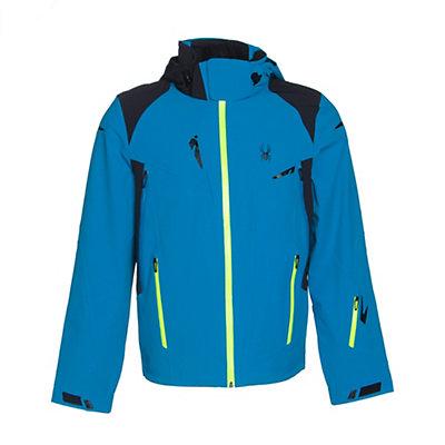 Spyder Bromont Mens Insulated Ski Jacket (Previous Season), Polar-Black-Volcano, viewer