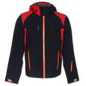 Spyder Bromont Mens Insulated Ski Jacket, Black-Volcano-Bryte Orange, medium