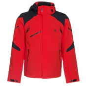 Spyder Garmisch Mens Insulated Ski Jacket, Volcano-Black, medium