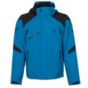 Spyder Garmisch Mens Insulated Ski Jacket, Electric Blue-Black, medium