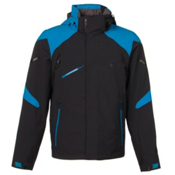 Spyder Garmisch Mens Insulated Ski Jacket, Black-Electric Blue, medium