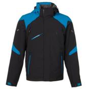 Spyder Garmisch Mens Insulated Ski Jacket, Black-Electric Blue, medium