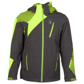 Spyder Vyper Mens Insulated Ski Jacket, Polar-Bryte Yellow-Theory Green, medium