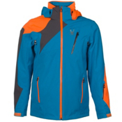 Spyder Vyper Mens Insulated Ski Jacket, Electric Blue-Polar-Bryte Orange, medium