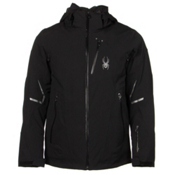 Spyder Leader Mens Insulated Ski Jacket, Black-Black-Black, medium