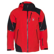 Spyder Leader Mens Insulated Ski Jacket, Volcano-Black-Volcano, medium