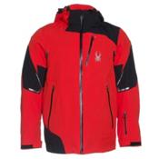 Spyder Leader Mens Insulated Ski Jacket, Volcano-Black-Volcano, medium