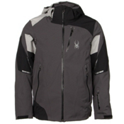 Spyder Leader Mens Insulated Ski Jacket, Polar-Black-Cirrus, medium
