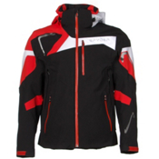 Spyder Titan Mens Insulated Ski Jacket, Black-Volcano-White, medium