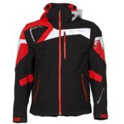 Spyder Titan Mens Insulated Ski Jacket, Black-Volcano-White, medium