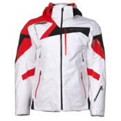 Spyder Titan Mens Insulated Ski Jacket, White-Volcano-Black, medium