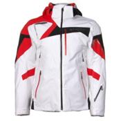 Spyder Titan Mens Insulated Ski Jacket, White-Volcano-Black, medium