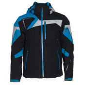 Spyder Titan Mens Insulated Ski Jacket, Black-Electric Blue-Cirrus, medium