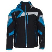 Spyder Titan Mens Insulated Ski Jacket (Previous Season), Black-Electric Blue-Cirrus, medium