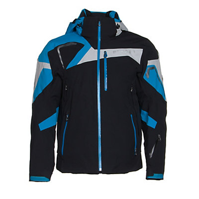 Spyder Titan Mens Insulated Ski Jacket (Previous Season), Black-Volcano-White, viewer