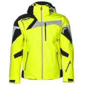 Spyder Titan Mens Insulated Ski Jacket, Bryte Yellow-Black-Cirrus, medium