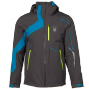 Spyder Rival Mens Insulated Ski Jacket, Polar-Electric Blue-Bryte Yellow, medium