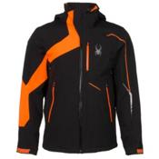 Spyder Rival Mens Insulated Ski Jacket, Black-Bryte Orange-Bryte Orange, medium