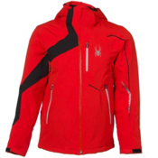 Spyder Rival Mens Insulated Ski Jacket (Previous Season), Volcano-Black-Cirrus, medium