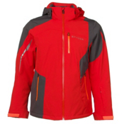 Spyder Chambers Mens Insulated Ski Jacket, Volcano-Polar-Bryte Orange, medium