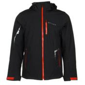 Spyder Chambers Mens Insulated Ski Jacket, Black-Black-Volcano, medium