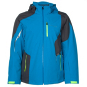 Spyder Chambers Mens Insulated Ski Jacket, Electric Blue-Polar-Bryte Yellow, medium