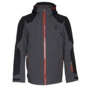 Spyder Sensor Mens Insulated Ski Jacket, Polar-Black-Volcano, medium