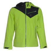 Spyder Enforcer Mens Insulated Ski Jacket, Theory Green-Black-Mountain To, medium
