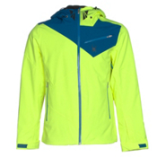 Spyder Enforcer Mens Insulated Ski Jacket, Bryte Yellow-Concept Blue-Electric Blue, medium