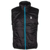 Spyder Exit Insulator Mens Vest, Black-Black-Electric Blue, medium